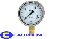 Đồng hồ đo áp suất wika inox chân đồng